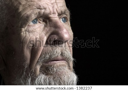 face shoot of old man