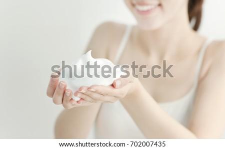 Face wash bubble image