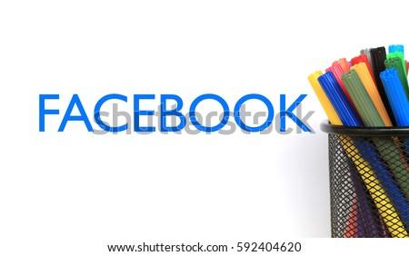 Facebook Words Concept