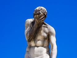Facepalm (Statue of Cain, by Henri Vidal, Jardin des Tuileries, Paris)