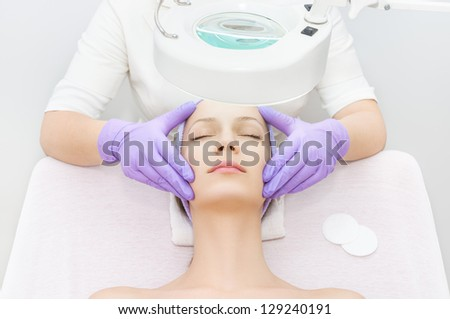 Facial treatment in spa