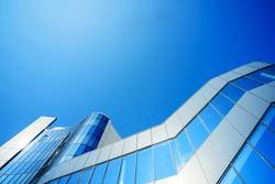 Facing the building with a ventilated facade. Aluminum colored facades. Modern facades Construction of a comercial centre