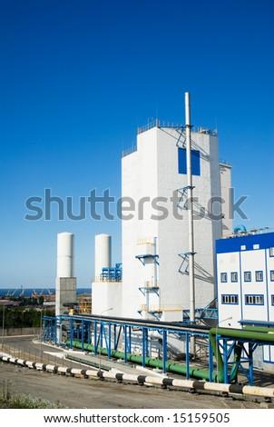 Factory against blue sky #15159505
