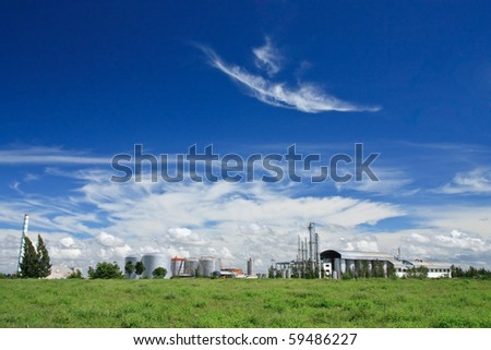 Factory and blue sky