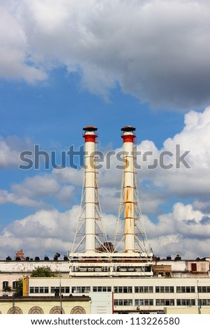 Factory chimneys