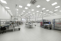 Factory for the manufacture of electronic printed circuit boards. Electronic industry.