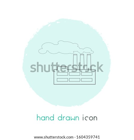 Factory icon line element. illustration of factory icon line isolated on clean background for your web mobile app logo design.