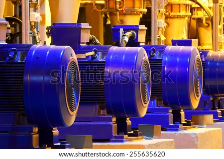 Factory motor machine equipment.Industrial business and technologies. #255635620