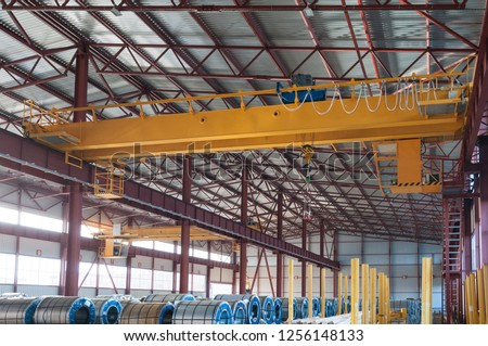 Factory overhead crane hook and chain #1256148133