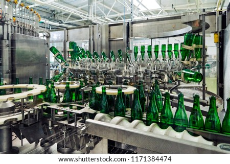 factory producing champagne #1171384474