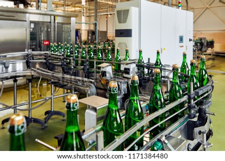 factory producing champagne #1171384480