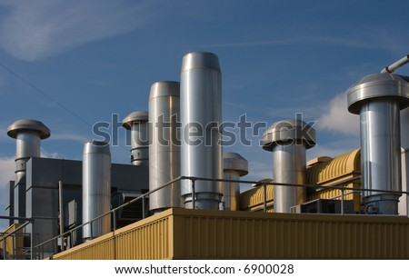 Factory rooftop heating and ventilation system