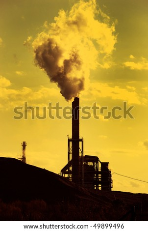stock photo : Factory smoke