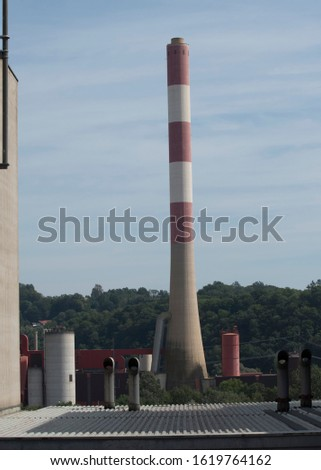 Factory vent or factory chimney
