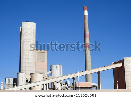 factory with blue sky