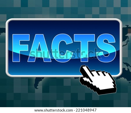 Facts Button Showing World Wide Web Information Solutions Online Using Virtual Faq Or Knowledge Content Shows Global Assistance And Advice From Web Reports Or Internet Data