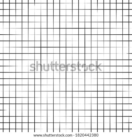 Fade halftone stripe. Seamless pattern. Grid line different widths. Half tone texture. Grating straight, parallel lines. Checkered background. Uneven stripes design. Gradation transition. Illustration stock photo
