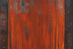 Faded worn bright rusty metal texture