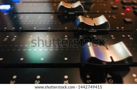 Faders , avid s6 digital mixer Сток-фото ©