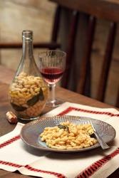 Fagioli in Fiasco, rustic and classic dish of Italian cuisine