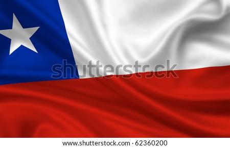 Fahne Flagge Chile - stock photo