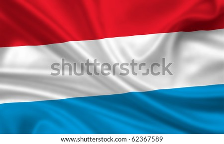 Fahne Flagge Luxemburg - stock photo