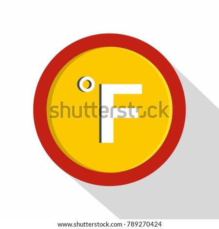 Fahrenheit icon. Flat illustration of fahrenheit  icon for web