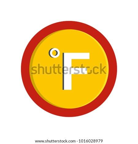 Fahrenheit icon. Flat illustration of fahrenheit  icon isolated on white background