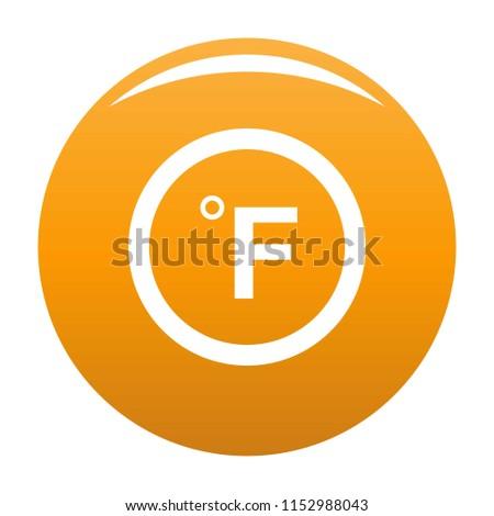 Fahrenheit icon. Simple illustration of fahrenheit icon for any design orange
