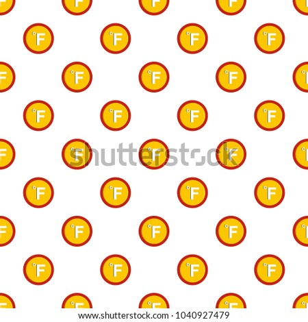 Fahrenheit pattern seamless in flat style for any design