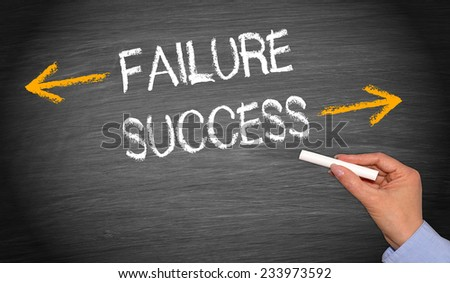 Failure and Success - Business Concept #233973592