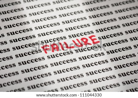 Failure in success