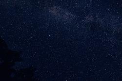 Faint stars on a dark night.