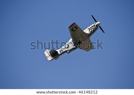 FAIRFORD - JULY 16: P51 Mustang Fighter at the Royal International Air