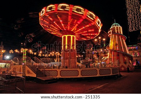 Fairground at Night, Glasgow