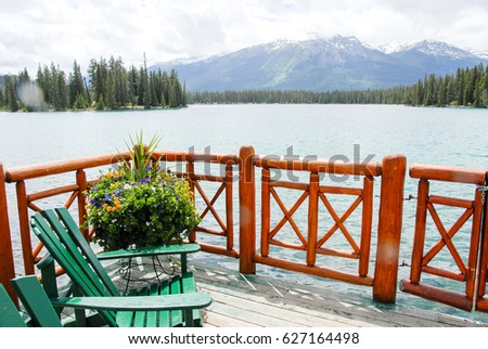 Fairmont Jasper Park Lodge in the Spring, Canadian Rockies, Alberta, Canada