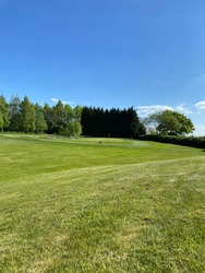 Fairway on a well maintained great British golf course.