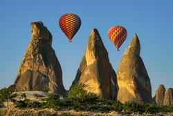 Fairy chimneys are a structure formed by rain, wind and flood waters eroding the structures made of tuffs. The shape of the fairy chimneys is conical. In addition, there is a rock block on its hills.