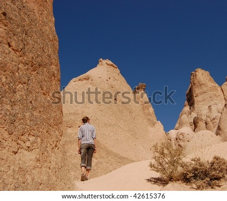 Fairy chimneys, Rose Valley, Cappadocia, Turkey