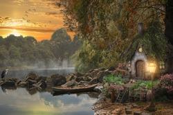 Fairy house on the lake