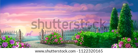 fairy-tale garden, background