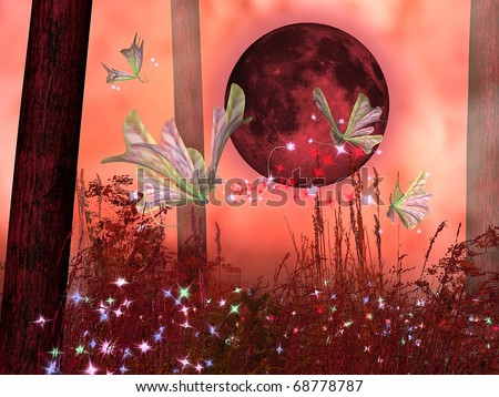 fairy tale pink background