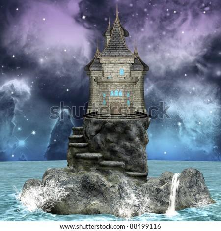 Fairy tale series - dreamland palace over an island