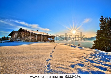 fairy winter landscape