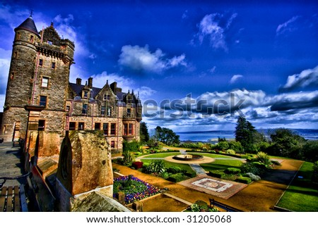 fairyland,beautiful Belfast castle,hdr,beautiful gardens at belfast castle