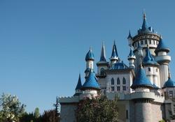 Fairytale Castle in Sazova Park (Science, art and culture park) in Eskisehir, Turkey. Fairy tale chateau