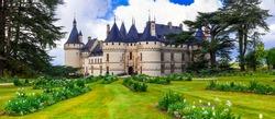 Fairytale Chaumont-sur -Loire castle. Loire valley, France