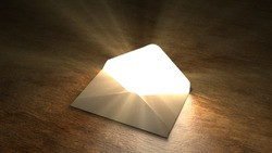 Fairytale mail. Mysterious letter with magic light. 55.
