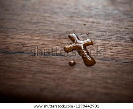Faith Christianity |  Cross Water Drop #1298442901