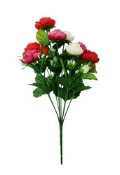 fake bouquet with roses on a white background